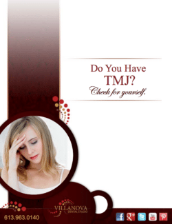 tmj brochure for dr. barakat